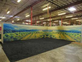Gravitee Modular Wall Panels with Doubled-sided Fabric Graphics