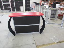 MOD-1529 Modular Counter with Locking Storage and Tension Fabric Accents