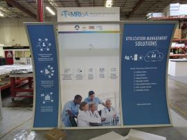 ECO-1047 Sustainable Exhibit with Aluminum Frame, Recycled Fabric Graphics, and Large Monitor Mount
